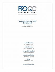ProQC exemple rapport